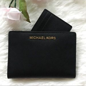 NWT Michael Kors Jet Set Card Case Wallet Carryall